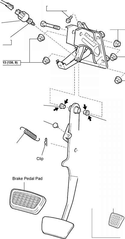 1996 toyota corolla ke pedal diagram  toyota  auto parts catalog and diagram