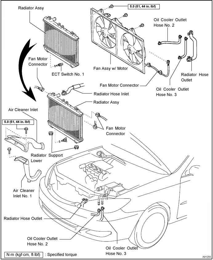 Toyota Pickup 1992 Toyota Pickup Location Of Engine Coolant Temp Sensor in addition ponents Ftt as well 6 0l Exhaust Diagram moreover Shema Sistema Ohlazhdeniya Toyota Prado 120 likewise 2000 Nissan Sentra Starter Diagram. on toyota camry oil cooler