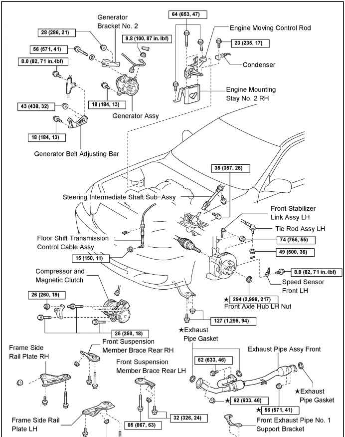 exhaust diagram for 2002 toyota camry