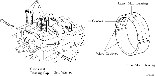 crankshaft bearing and crankshaft bearing