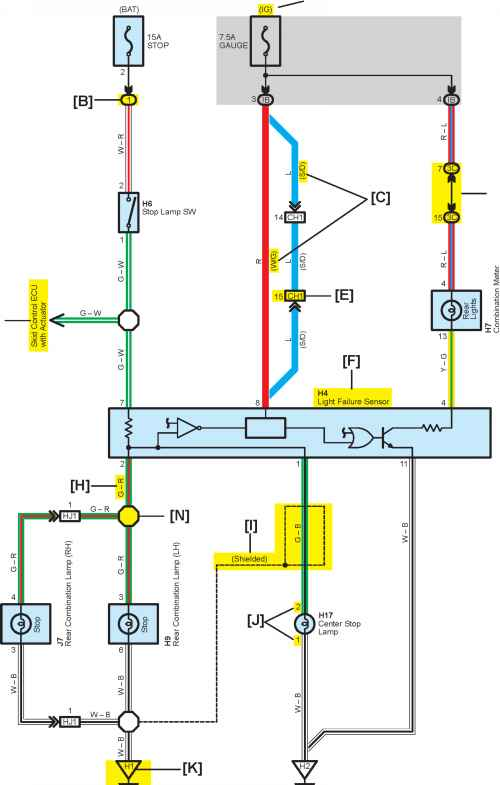 Toyota Corolla Fog Light Relay Diagram: [G]