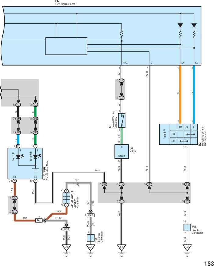 тойота схема переключателя поворотов