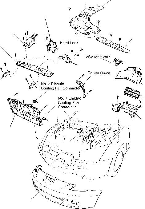 Upper Front Fender Apron Seal Celica Toyota Celica 2000