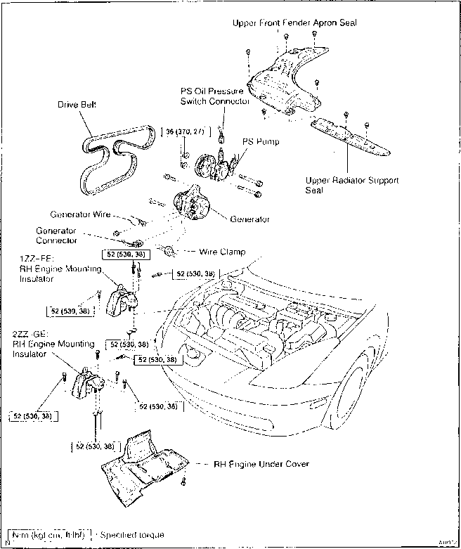 toyota avalon engine diagram cooling system toyota avalon