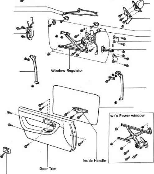 Front Door Components - Toyota Celica Manual