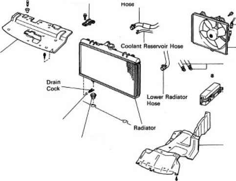 Removal of radiator toyota celica manual toyota service blog 1991 toyota land cruiser radiator fandeluxe Choice Image