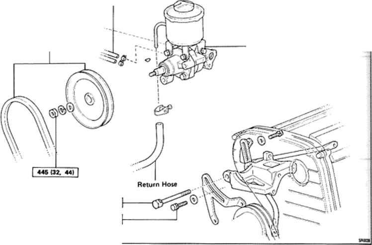 removal of power steering pump