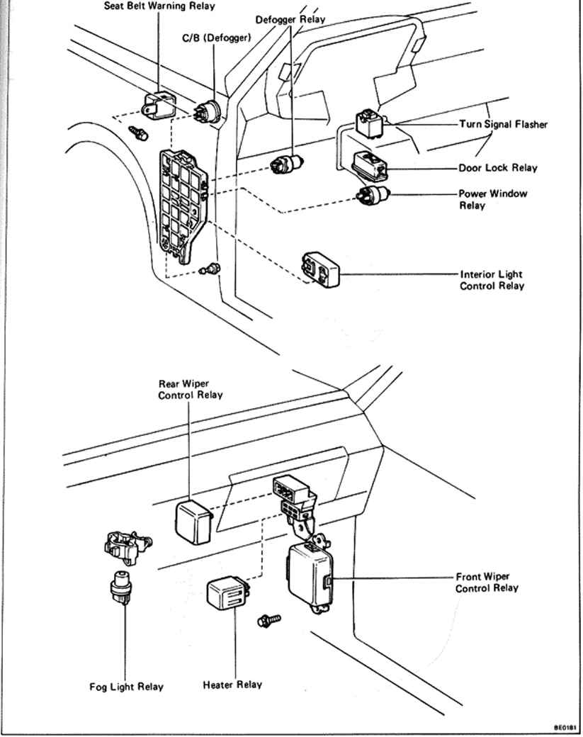 Passenger  partment Switches And Relays on chevy fuel pump relay wiring diagram
