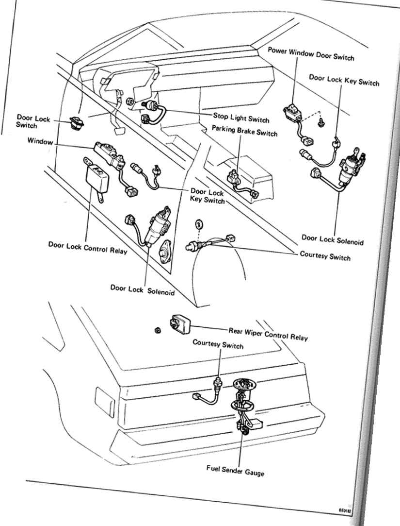passenger compartment switches and relays