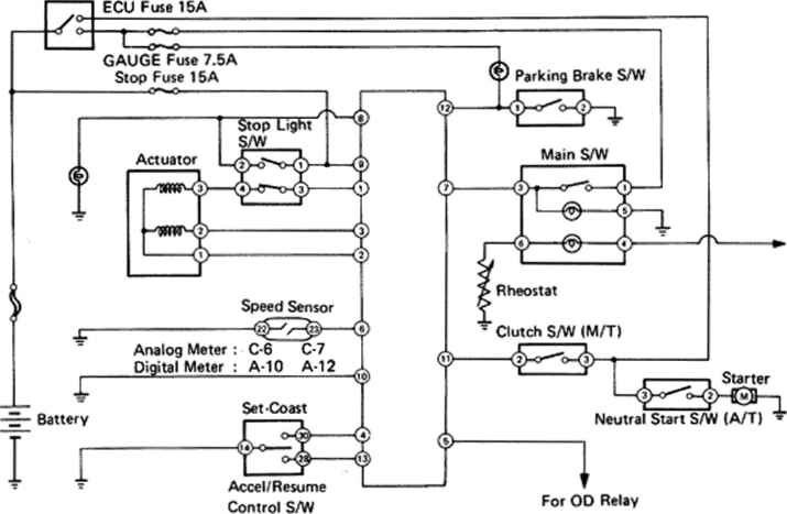 Cruise Control System Wiring Diagram on toyota sequoia headlight wiring diagram