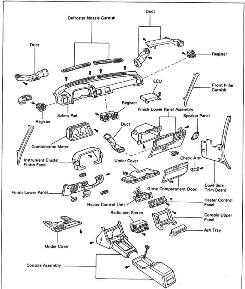 2003 Ta a Parts Diagram on 2004 toyota sienna heater control valve diagram