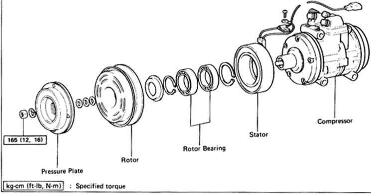 compressor - toyota celica supra mk2 86 repair