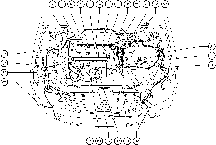 Position Of Parts In Engine Partment Toyota Corolla 2004 Wiring