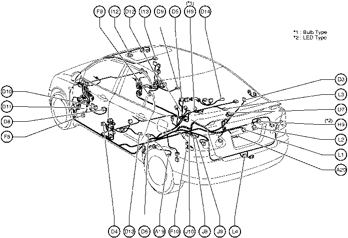 Position Of Parts In Body on Toyota Corolla Parts Diagram