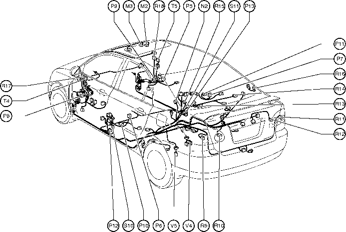Position Of Parts In Body on 2004 Trailblazer Wiring Diagram