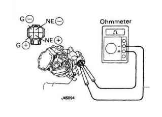 Wiring Diagram For A 1996 Toyota Camry Distributor Rebuild Kit on nissan camshaft position sensor replacement
