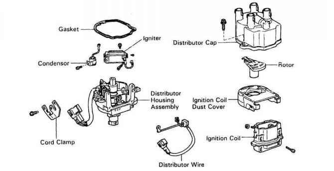igniter and pick up coils for toyota 4a fe distributors toyota rh toyotaguru us Turbocharged Engine Air Flow Diagram Toyota Corolla 16V 4A Engine