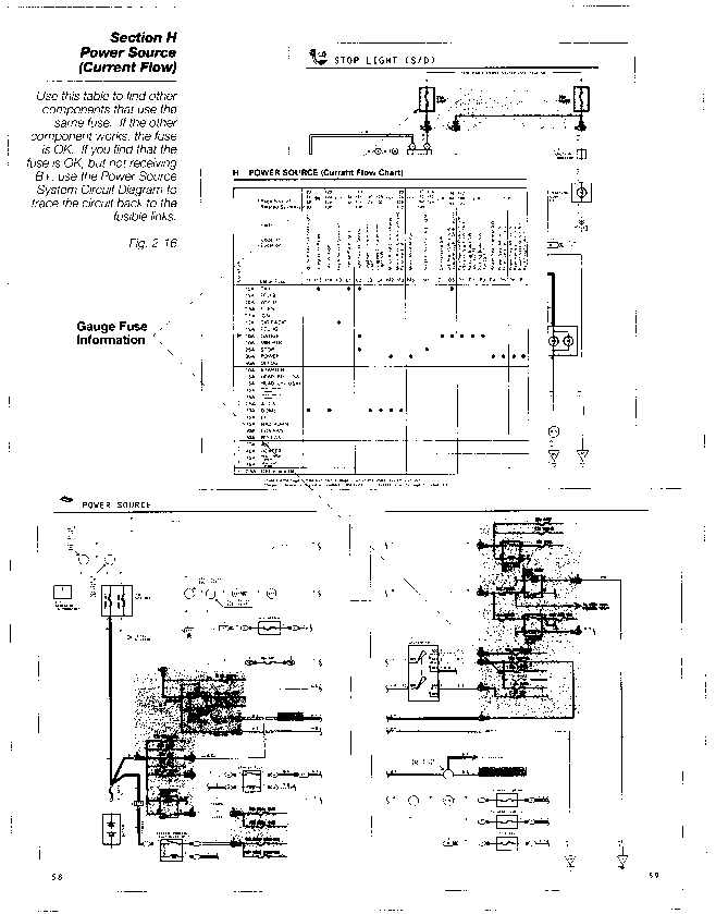 Power Source System Circuit Diagram Toyota Engine Control Systems