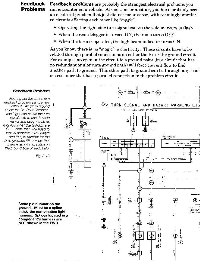 Poor grounding point - Toyota Engine Control Systems