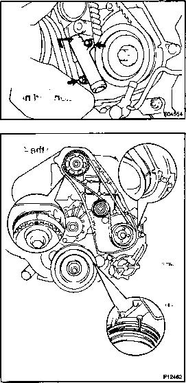install timing belt - toyota hilux 1kz te repair