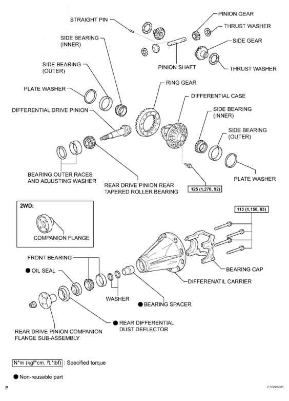 2006 Toyota Differential Diagram