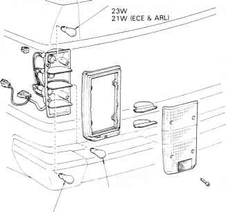 Toyota Luggage Compartment Light