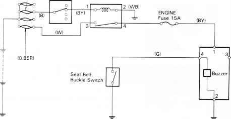 [ZTBE_9966]  Seat belt warning Circuit Diagram - Toyota Land Cruiser Fj4 6 Bj4 Repair | Wiring Diagram Seat Belt Reminder |  | Toyota Service Blog