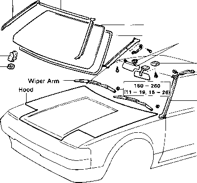 Mk 1 Mr2 Windscreen Components