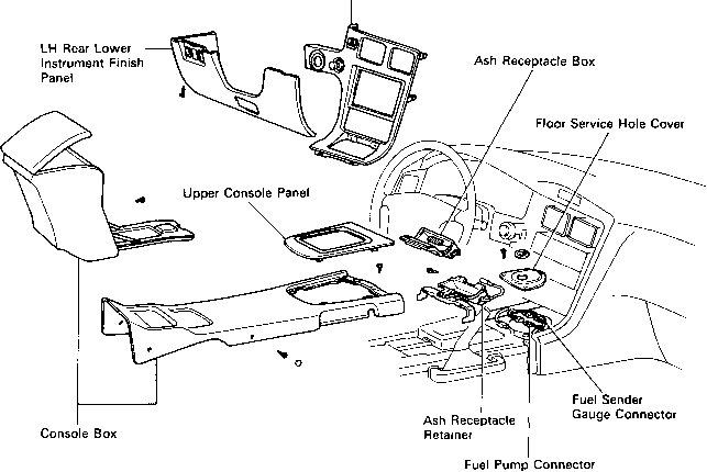2002 toyota avalon fuel pump location