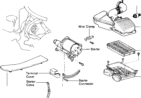 toyota yaris starter motor replacement