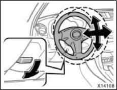 Tilt and telescopic steering wheel  Toyota RAV4 Manual