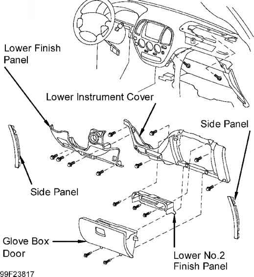 Note If Instrument Panel Or Instrument Panel Reinforcement Is Deformed Or Cracked Replace With New Part on toyota sienna rear suspension diagram