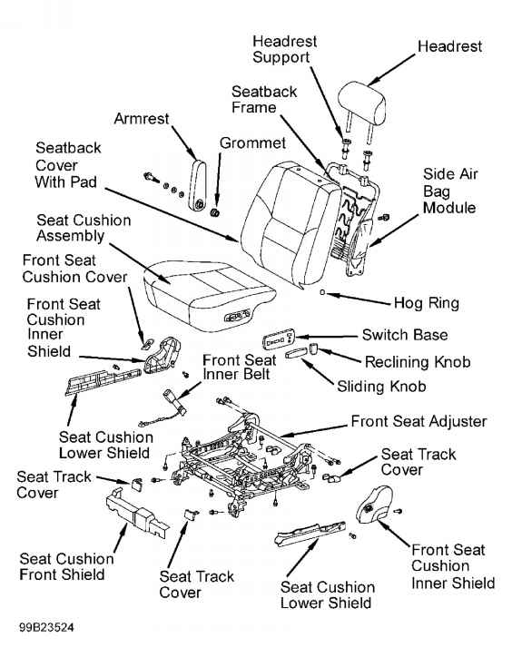Toyota Matrix Belt Diagram on pt cruiser airbag sensor location
