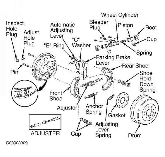 Rear Brake Shoes on 2002 toyota celica parts diagram