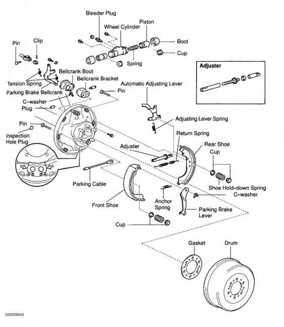 2007 toyota corolla front brake diagram