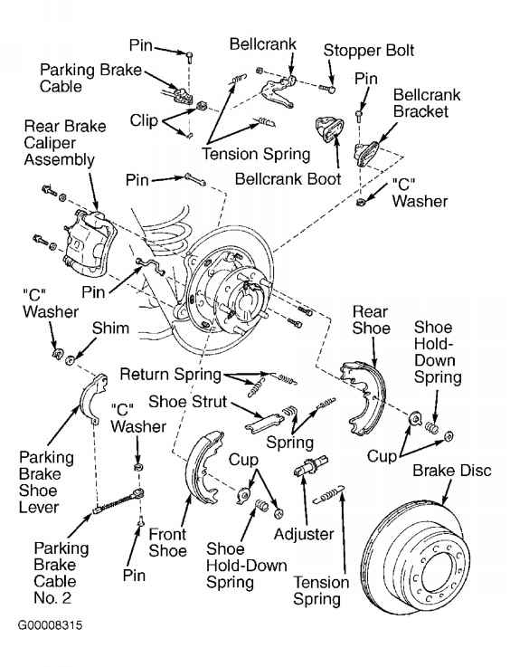 Power Brake Unit on Jeep 2000 Parts Diagram