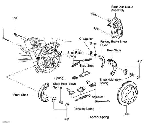 Toyota Highlander Parking Brake Diagram on 2001 Dodge Dakota Drum Brake Diagram