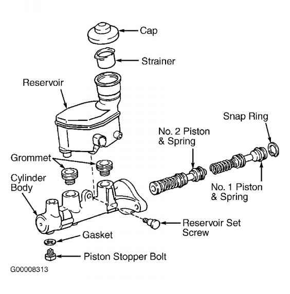 1864_382_208 toyota sienna master cylinder note proportioning valve and bypass valve removal and installation