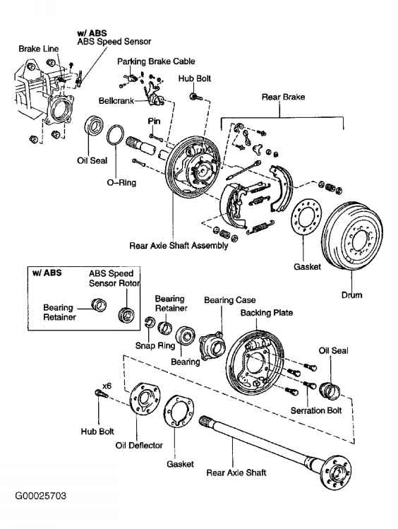 rear axle shaft bearing - toyota sequoia 2001 repair  toyota service blog