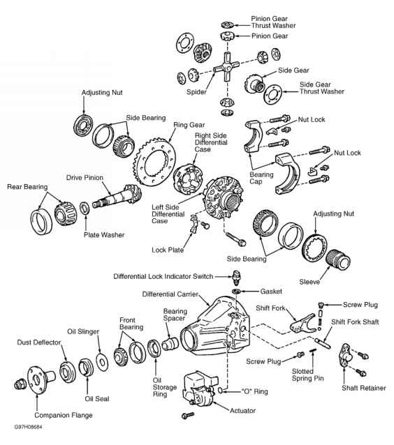 Differential Assembly Tacoma Runner on 2004 Toyota Sienna Parts Diagram