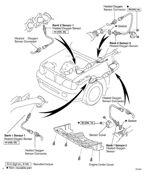 2002 toyota tundra engine diagram o2 sensors
