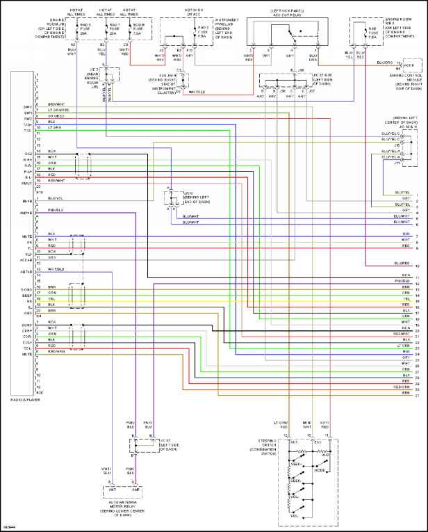 Radio on 1997 toyota avalon o2 sensor wiring diagram