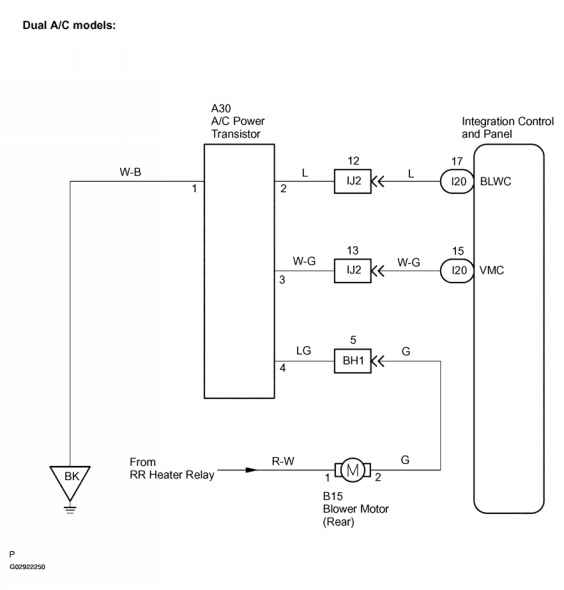 Low pressure switch wiring harness diagram