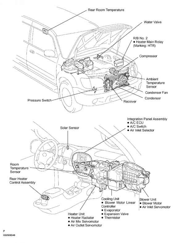 Vacuum Pump Adapter on Toyota Corolla Parts Diagram