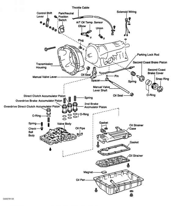 Toyota Transmission Diagrams Toyota A F Transmission Parts Diagram