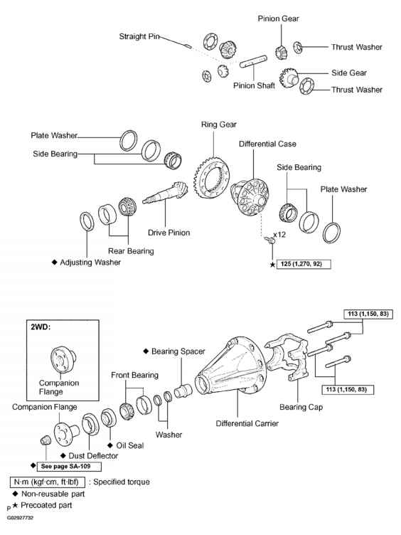 diagram toyota tacoma differential carrier  toyota  auto