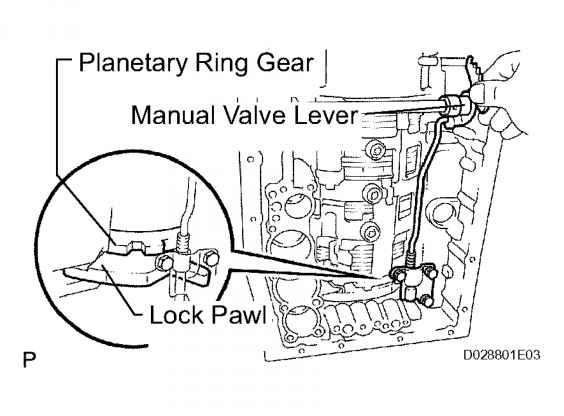 install manual valve lever subassembly