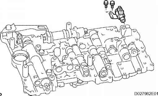 1866_1878_821 a750e valve body remove shift solenoid valve toyota sequoia 2006 repair A750E Transmission Problems at gsmx.co