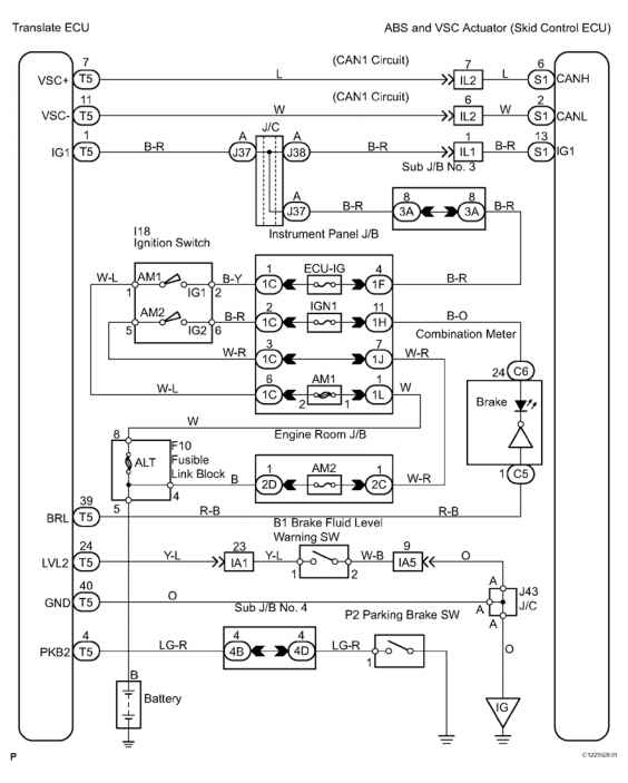 1866_2710_1406 brake fluid test switch schematic dtc c brake fluid level lowopen circuit in brake fluid level 2010 toyota camry wiring diagram at edmiracle.co