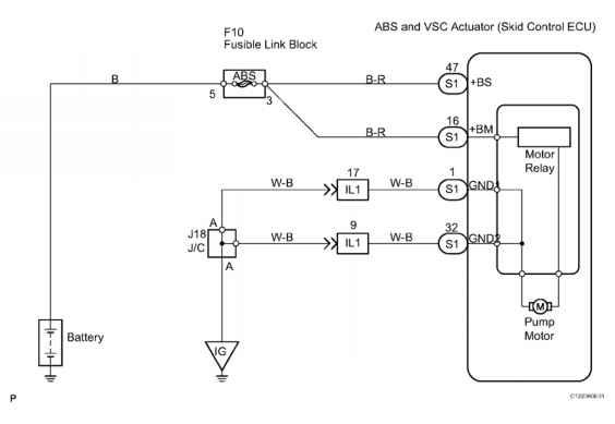 Dtc C Open In Pump Motor Circuit Description